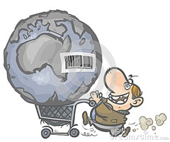 earth-as-commodity-shopping-cart-cartoon-allegory-consumer-people-31545027