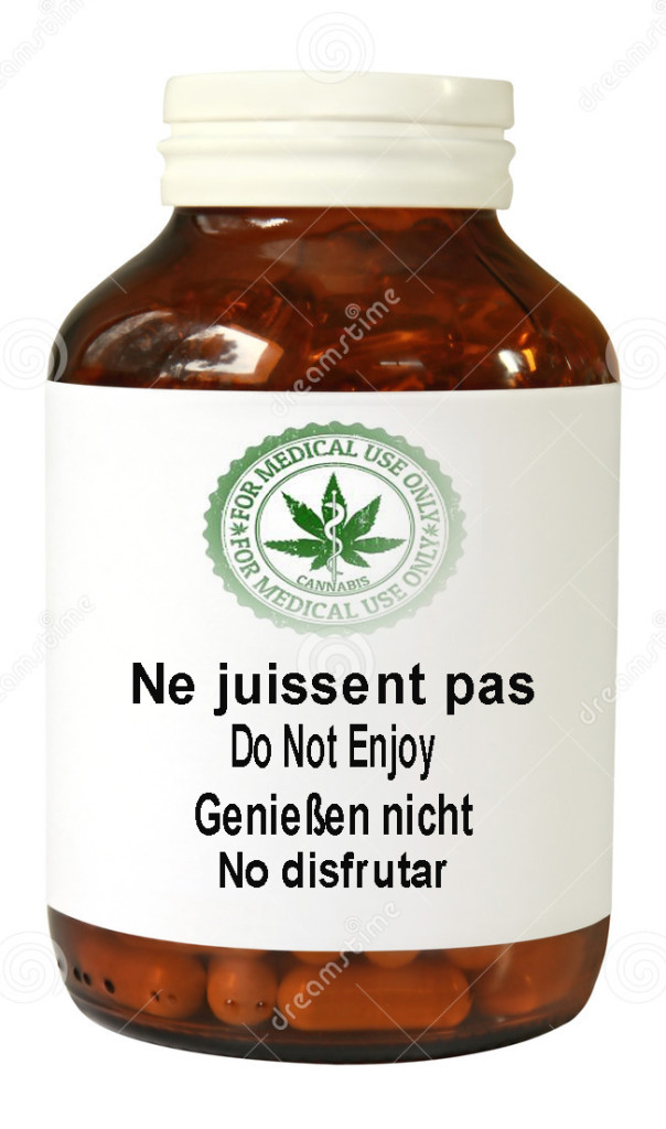 Cannabis bottle-