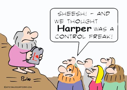 Harper control freak