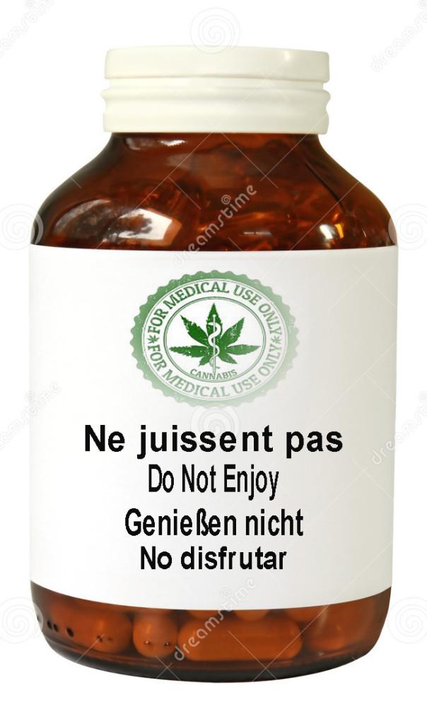 Cannabis bottle-